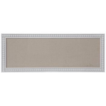 White & Beige Beaded Frame Memo Board