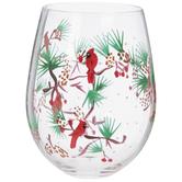 Winter Cardinals Stemless Glass