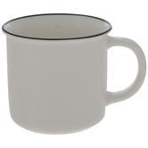 White Mug With Black Trim