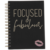 Focused & Fabulous Kiss Spiral Notebook