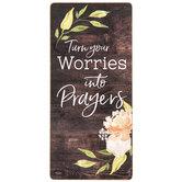 Worries Into Prayers Magnet
