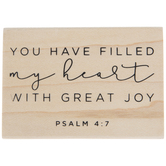 Psalm 4:7 Rubber Stamp