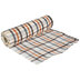 White, Brown & Orange Plaid Deco Mesh Ribbon - 10
