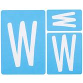 Fun Font Monogram Adhesive Stencils - W
