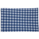Blue & White Buffalo Check Tablecloth