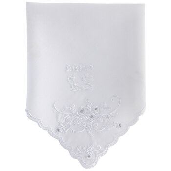 White Mother Of The Bride Hankie