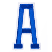 """Blue Embroidered Iron-On Letter A - 3"""""""