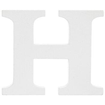 """White Wood Letter H - 3"""""""
