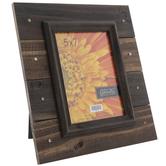 "Brown Distressed Wood Plank Frame - 5"" x 7"""