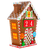 Gingerbread House Countdown Wood Decor