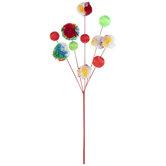 Multi-Color Ball & Pom Pom Pick