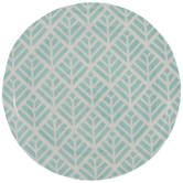 White & Turquoise Palm Leaf Plate