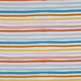 Muted Rainbow Striped Cotton Calico Fabric