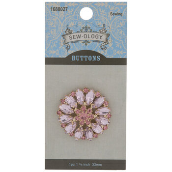 Rhinestone Flower Shank Button