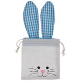 Gingham Ears Bunny Drawstring Bag