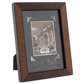 "Walnut Veneer Wood Frame - 5"" x 7"""