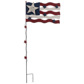 Land That I Love Flag Metal Garden Stake
