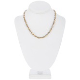 """Fine Oval Chain Necklace - 18"""""""