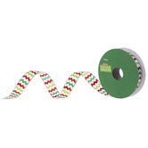 Christmas Chevron Single-Face Satin Ribbon - 5/8""