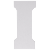 White Letter Wood Wall Decor - I