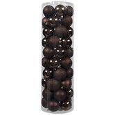 Dark Brown Matte, Shiny & Glitter Ball Ornaments