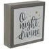 O Night Divine Tile Wood Decor