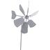 Galvanized Windmill Metal Garden Pick