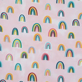 Muted Rainbow Apparel Fabric
