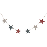 Red, White & Blue Star Wood Banner