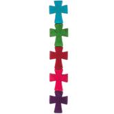Dyed Imitation Turquoise Cross Bead Strand