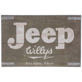 Jeep Willys Wood Wall Decor