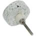White Round Terrazzo Knob