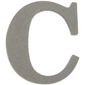 Chipboard Letter C - 3 1/2""