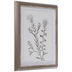 Gold Foil Flowers Framed Wood Wall Decor