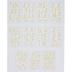 Gold Foil Script Alphabet Stickers