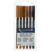 Leather Dye Pens - 6 Piece Set