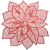 Red Metallic Cut-Out Poinsettia Placemat