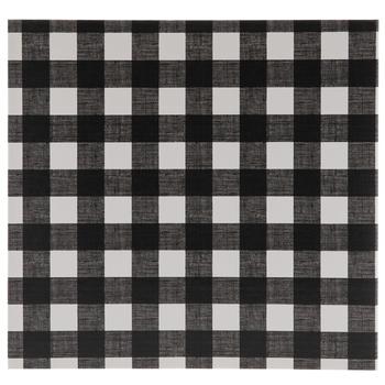 "Black & White Buffalo Check Scrapbook Album - 12"" x 12"""