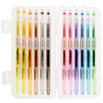 Glitter Kaiser Colour Gel Pens - 12 Piece Set