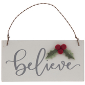 Believe & Holly Ornament