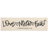 1 Corinthians 13:8 Rubber Stamp