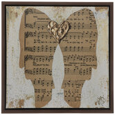 Angel Wings Hymnal Canvas Wall Decor