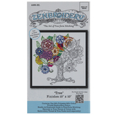 Zenbroidery Floral Tree Embroidery Kit