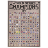 MLB World Series Chart Wood Wall Decor
