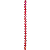 Siam Gemcut Glass Bead Strand - 6mm x 8mm