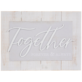 Together Forever & Always Wood Wall Decor