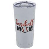 Baseball Mom Metal Cup