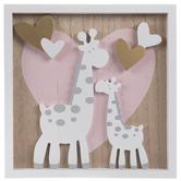 Giraffes & Hearts Wood Wall Decor
