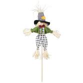 Buffalo Check Overalls Scarecrow Pick