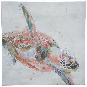 Watercolor Sea Turtle Canvas Wall Decor